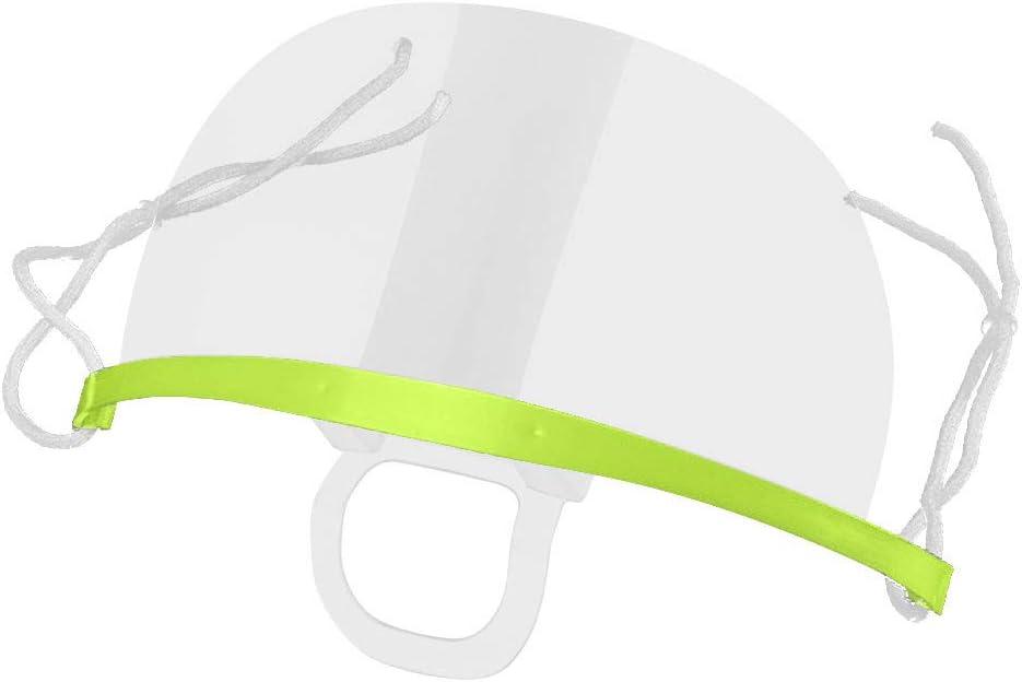 BaZhaHei Unisex 10 St/ück Damen Transparent Mundschutz Mund Nasenschutz Visier Kunststoff Schutzschild Multifunktionstuch Atmungsaktive f/ür Restaurants K/üchen