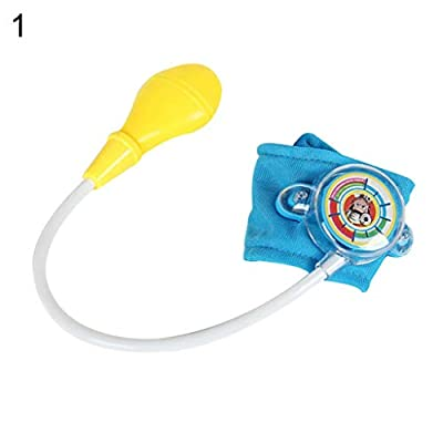 Kekailu Pretend Play Doctor Toy,Simulated Blood Pressure Cuff Monitor Doctor Pretend Play Kids Education Toy,Red: Home & Kitchen