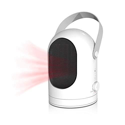 Fan Heater Calentador De Ventilador Eléctrico,Calefactor PTC Portátil De Cerámica Oscilante De 600W, Protección contra El...