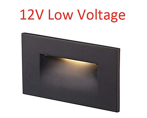 - Cloudy Bay 12V Low Voltage LED Step Light,3000K Warm White,Stair Light,Oil Rubbed Bronze