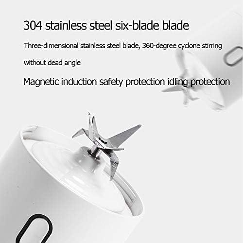 RYDZCLH Portatile Personal Mini Formato Blender con 6 Inox Lame Smoothie Blender, per I Succhi di Granite Smoothie Agitare (Blu)