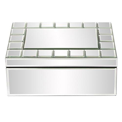 Howard Elliott 99088 Mirrored Rectangular Jewelry Box