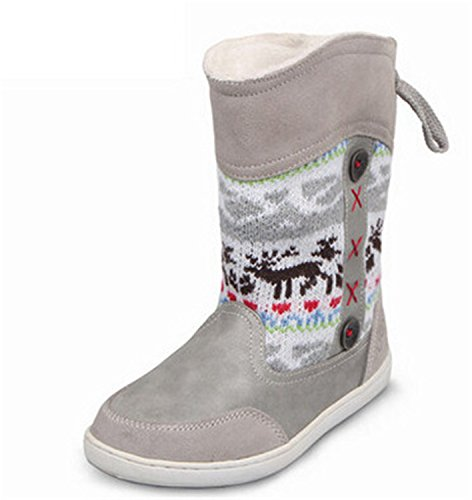 You Tube Christmas Shoes (Kids Shoes Rubber Boots Girls Boys Christmas Boots Winter Girls Snow Boots Grey 3.5)