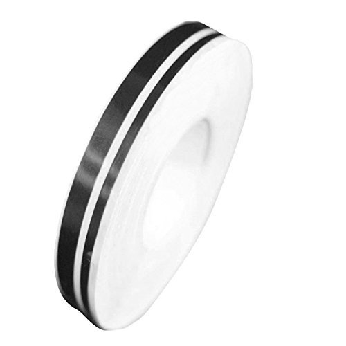 ADSRO 1Pc 4mm 2mm 980cm Pinstripe Decals Vinyl Tape Double Stripe Stickers ()