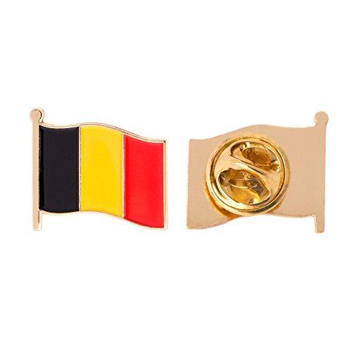 Belgium Belgian Country Flag Lapel Pin Enamel Made of Metal Souvenir Hat Men Women Patriotic (Waving Flag Lapel Pin)