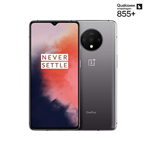 OnePlus 7T Dual-SIM 128GB/8GB RAM (GSM, CDMA) Factory Unlocked 4G/LTE Android Smartphone - International Version (Frosted Silver)