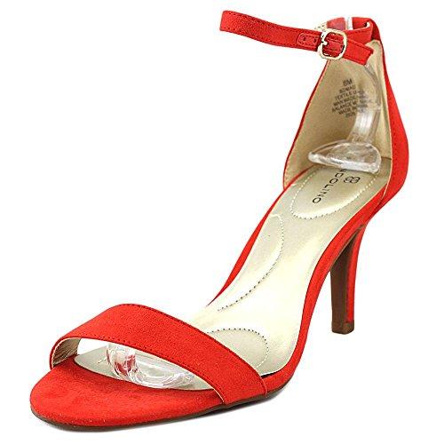 Madia Bandolino Donna Tessuto Rosso Tacco Sandalo wxSHzS7pq