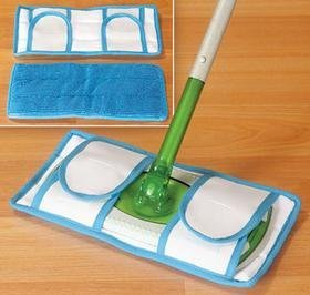 Set of 2 Resusable Microfiber Mop Pads