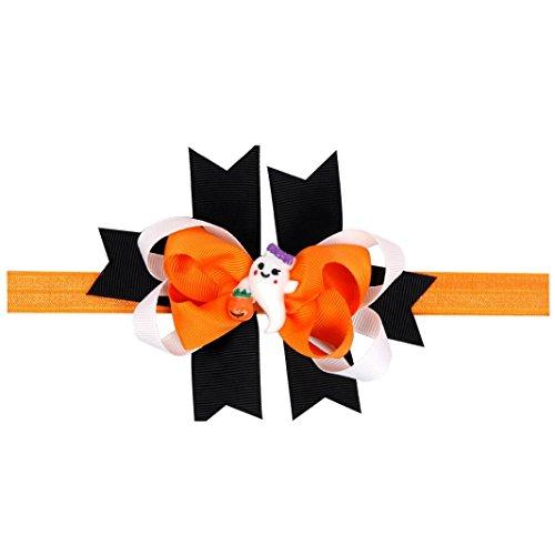 [Charberry Halloween Baby Girl Headdress Elastic Hair Band (Orange)] (Horror Makeup Value Kit)