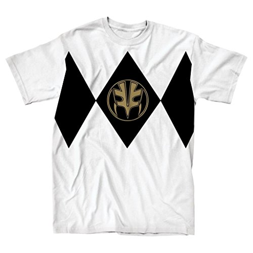 [Power Rangers White Ranger Adult Costume T-Shirt (Adult Small)] (Power Ranger Samurai Costumes)