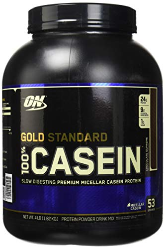 OPTIMUM NUTRITION GOLD STANDARD 100% Micellar Casein Protein Powder, Slow Digesting, Helps Keep You Full, Overnight Muscle Recovery, Chocolate Supreme, 4 Pound Review