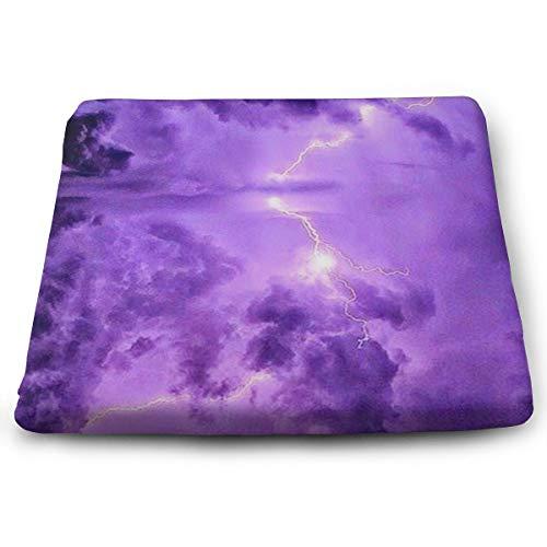 (O-X_X-O Seat Cushion Orthopedic Car Seat Cushions to Raise Height Office Chair Wheelchair Car Purple Lightning Seat Cushion)