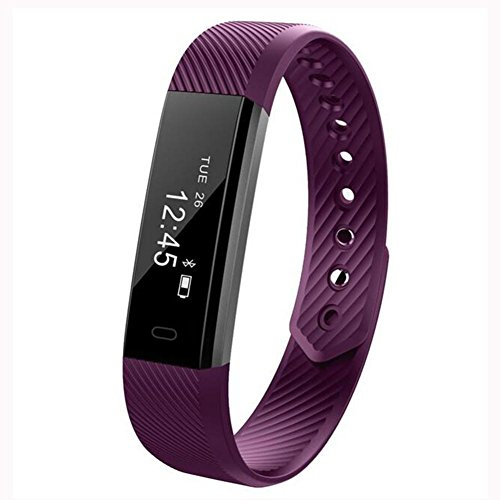 LPY-ID115HR Activity/Fitness Tracker , Pedometer, Heart Rate Watch,Sleep Monitor Bluetooth , purple by fitness tracker