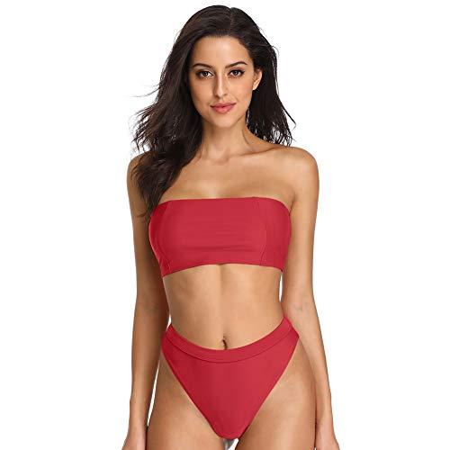 Dixperfect Sexy Bikini Set Swimwear Classic Bandeau Tube Top 80