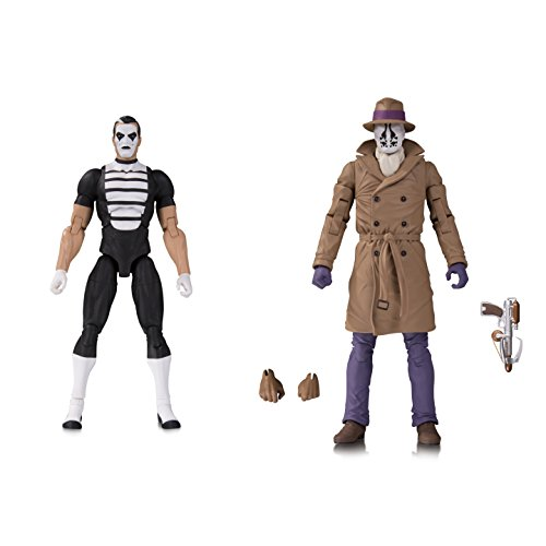 DC Collectibles DEC178398 Doomsday Clock: Rorschach/Mime Action Figure, (Pack of 2)