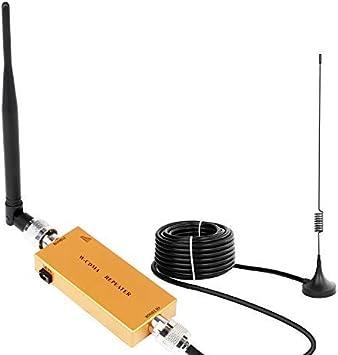Yuanj Mini Amplificador señal Booster 3G W-CMDA repetidor del teléfono UMTS repetidor de señal señal repetidor Amplificador Antena Oro Tim Wind ...