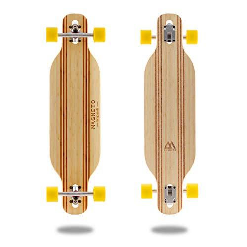 Laguna Longboard Collection | 36 inch Longboard Skateboards | Bamboo with Hard Maple Core | Cruising, Carving, Dancing, Freestyle ... (Twin)