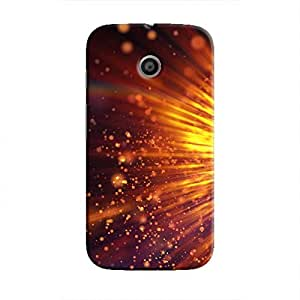Cover It Up - Gold Exploding Moto E Hard Case