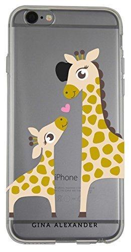Gina Giraffe - Gina Alexander iPhone 6 Plus Transparent Case (Giraffes with Love)