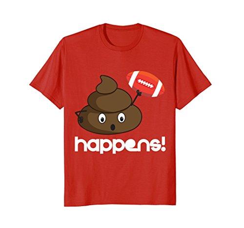Poop-happens-Football-Funny-Humor-t-shirt-tee-shirt