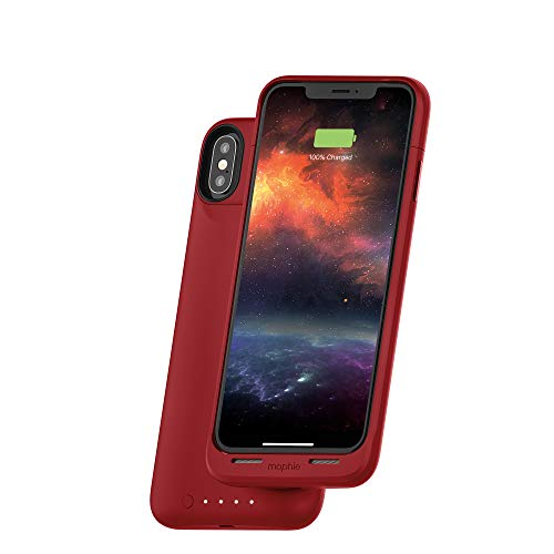mophie Juice Pack Air - Mfi Certified - Wireless Charging - Protective Battery Pack Case for Apple iPhone Xs/X - Red