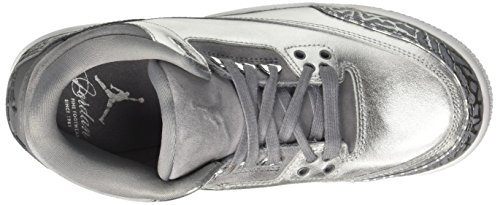US Women Shoe 3 Retro Jordan Cool Air Women's Prem Basketball Grey 5 7 Metallic Jordan HC Nike Silver UwqFCaTa