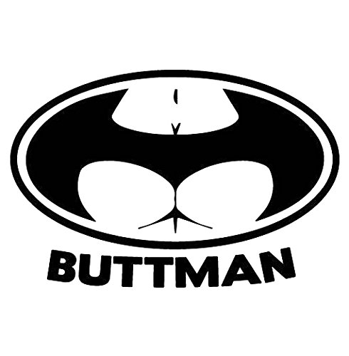 Buttman Funny Vinyl Decal Sticker   Cars Trucks Vans Walls Laptops Cups   Black   5.5 inches   KCD915