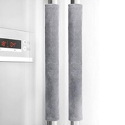 Refrigerator Door Handle Cover Kitchen Appliance Decor Handles Antiskid Protector Gloves for Fridge Oven Keep off Fingerprints,Liquid,Oil Stain,Food Spot,2 pieces