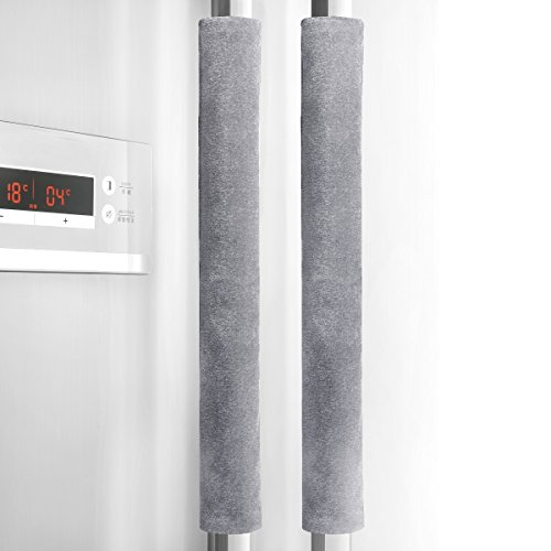 Sheskind Refrigerator Door Handle Cover Kitchen Appliance Decor Handles Antiskid Protector Gloves for Fridge Oven Keep off Fingerprints,Liquid,Oil Stain,Food Spot,2 pieces (16