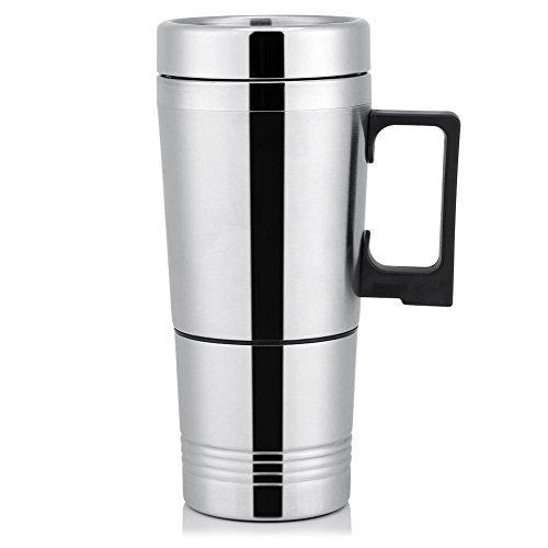 Taza de la Calefacción del Coche 300ML, Taza de Calefacción del Termo del VehíCulo del Pote del Fabricante de Café del...