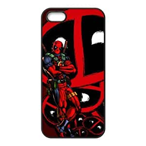 3149137M28018414 Diy 6 Game Deadpool Print Black Case With Hard Shell Cover for Apple iPhone 5s