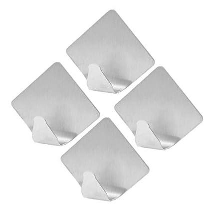 Amazon.com: eDealMax Metal Rombo Diseño Sombrero de la ropa Escudo autoadhesivo gancho de la suspensión DE 4 PC: Home & Kitchen