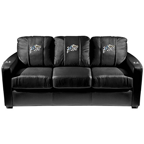 XZipit College Silver Sofa with NAVY Midshipmen Logo Panel, Black