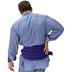 Sensacare Hot & Cold Natural Therapy Spine/Back Wrap, Purple, 3 Pound