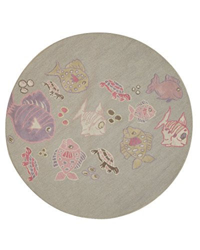 Amazon.com: EORC T139GY6X6R Hand Tufted Wool Kid's Fish