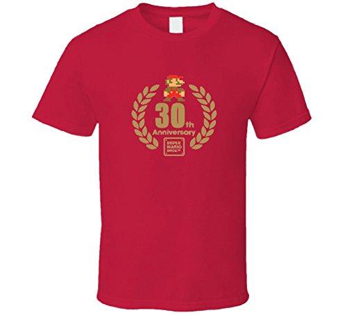 Super Mario Bros 30th Anniversary Logo T Shirt - RED XL Red