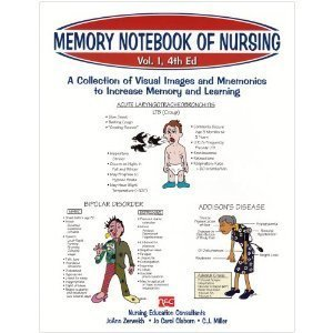 J.G.Zerwekh's J. C. Claborn's C. J. Miller's Memory Notebook of Nursing 4th (Fourth) edition(Memory Notebook of Nursing: A Collection of Visual Images and Mnemonics to Increase Memory and Learning (Edition Notebook Memory)