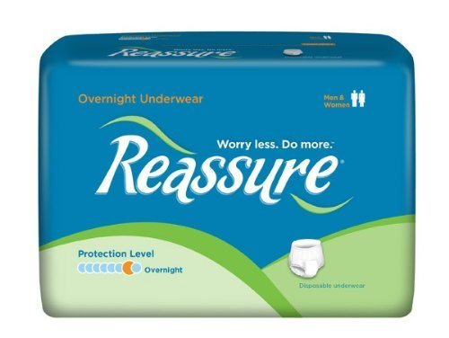 Reassure Overnight Underwear, X-Large (96) by Reassure