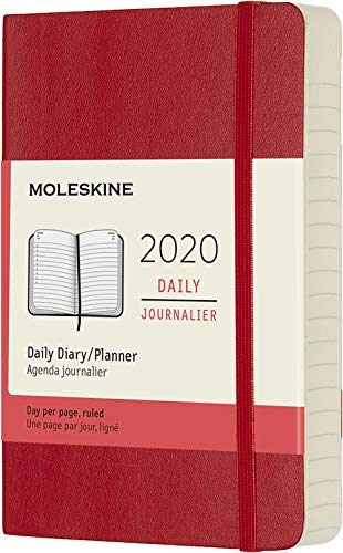 (Moleskine Classic 12 Month 2020 Daily Planner, Soft Cover, Pocket (3.5