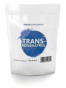 Trans-Resveratrol Polvos Puros - Para Mejorar la Cognición y el Sistema Nervioso | ANTIOXIDANTE | Antiedad - Focus Supplements - Envasado en UK en ...