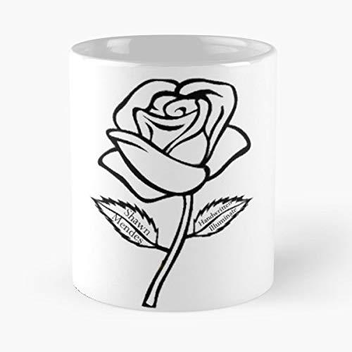 Shawn Mendes Rose Illuminate Handwritten Albums Canadian Guitar Singer Songwriter - Best Coffee Mug Gift