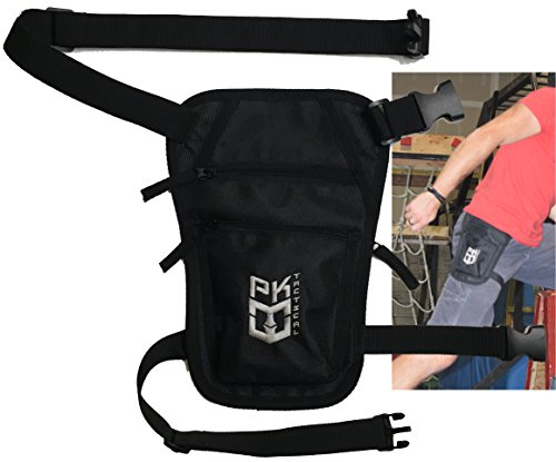 PK Tactical Parkour / Freerunning Leg Bag, Running Belt for extreme athletes, runners, gymnasts, ninjas, rock climbers and more. by Warrior Life Gear