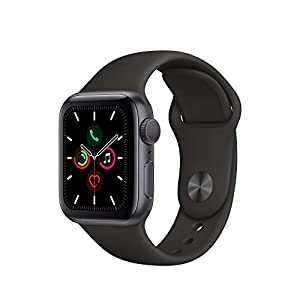 Apple Watch Series 5 (GPS, 40mm) – Space Gray Aluminium Case with Black Sport Band