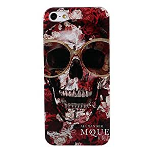 Red Skull Pattern Black Plastic Hard Case Cover for iPhone 5/5S