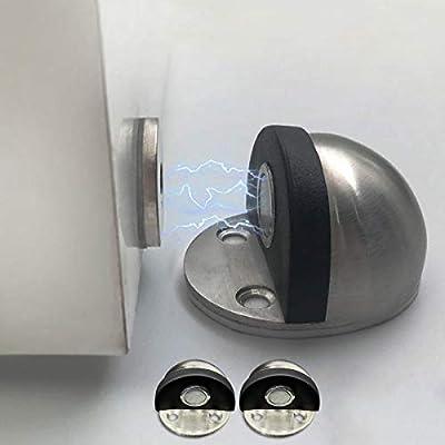 Hutlon Door Stopper Chrome Door Stop Magnetic Decorative Heavy Duty Door Stops Black Rubber Doorstop Ground Mount Stainless Steel Door Stoppers No Drill 3 Pack Amazon Sg Home Improvement