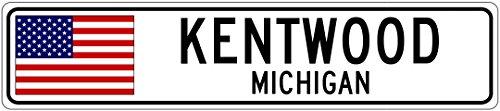 KENTWOOD, MICHIGAN - USA Flag City Sign - 9