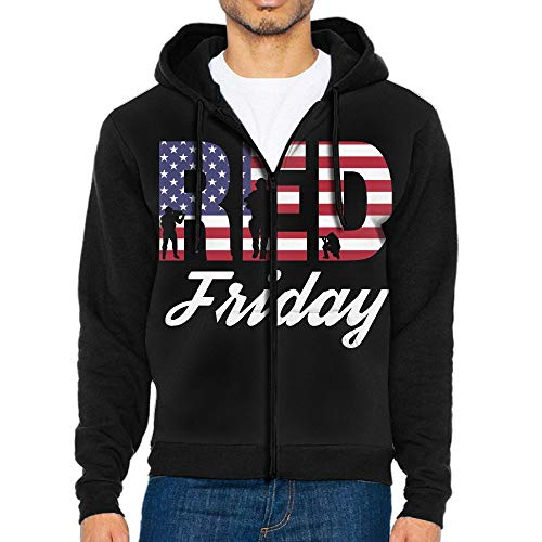 Red Friday Men's Custom Full-Zip Hoodie with Pocket Sweatshirts Jackets for $<!--$51.69-->