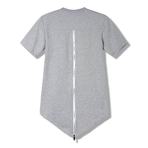 FZDX Men's Pullover Short Sleeve Hoodie Curved Hem Hoodie T Shirt