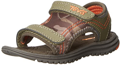 Teva Pysclone 5 Sport Sandal (Toddler), Olive, 5 M US Toddler