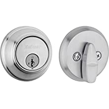 Kwikset 98190-003 816 Key Control Single Cylinder Door Lock Deadbolt featuring SmartKey Security for Master Keying Multi-Family Housing and Tenant Key Control in Satin Chrome